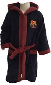 robe de chambre junior officielle fc barcelone football fcb barca peignoir peignoir de bain
