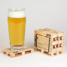 wooden drink coaster these wooden pallet coasters are a must have table accesory