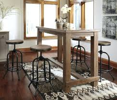 industrial style pub table industrial style bar table signature design by 5 piece bar table set