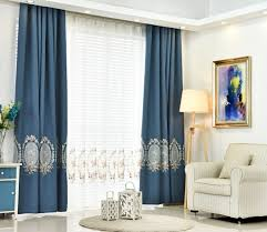 thick embroidered curtains for living room bed room elegant window