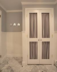 closet door ideas powder room traditional with beadboard closet