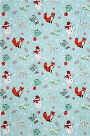 owl christmas wrapping paper blue christmas fabric chalkboard snowman fox owl tła