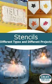 craft stencils different types and different projects