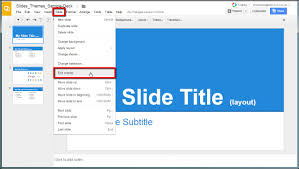 cool themes for google slides slides editing the master theme and layouts in google slides v1