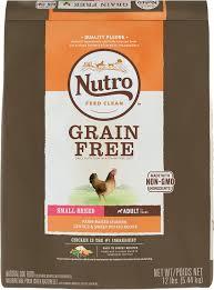 nutro grain free small breed farm raised chicken lentils