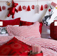 decorations red and white christmas teen bedroom decoration