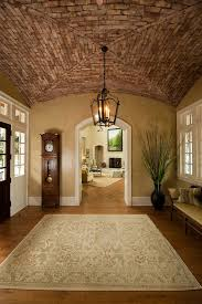entry vestibule vestibule entryway entry traditional with brick ceiling tufted