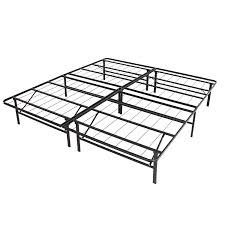 Decorative Metal Bed Frame Queen Amazon Com Best Choice Products Platform Metal Bed Frame Foldable