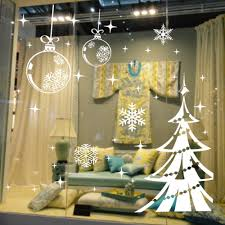 Christmas Window Decorations by Popular Christmas Window Decals Buy Cheap Christmas Window Decals