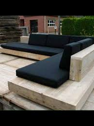 L Shaped Wooden Sofas