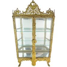 Antique Brass Display Cabinet Curio Cabinet Dreaded Miniature Curio Cabinet Photos