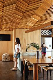 dwell wood house dining room in the auckland new zealand house