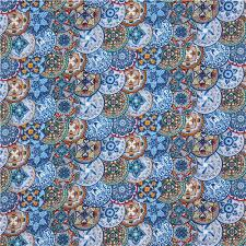 blue beautiful ornament pattern fabric by elizabeth s
