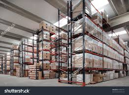 shelves manufacturing storage warehouse stock photo 36483181