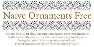 naive ornaments font dafont