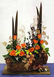 christmas flower arrangements orange copper bronze christmas flower arrangement dot women