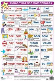 same words different meanings homophones activity free english and language