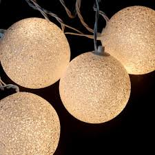 set of 6 shimmering white lighted twinkling sphere