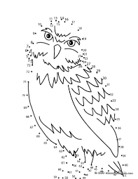 coloring pages birds dot to dot owl dot to dot game dot to dot