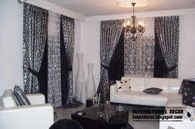 Black Living Room Curtains Ideas Likeable Black And White Living Room Curtains 10 Image In