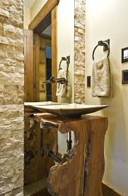 natural treat live edge vanity top redefines modern bathrooms reclaimed trees used craft live edge vanity for the rustic bathroom from sticks