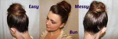 hairstyles easy to do for medium length hair cute easy messy bun hairstyle tutorial for medium to long hair