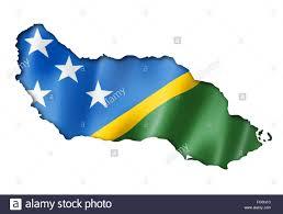Solomon Islands Map Solomon Islands Flag Map Stock Photo Royalty Free Image 93440296