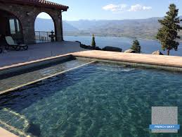 Elegant Colors Hydrazzo French Gray In An Elegant Pool With A Million Dollar View