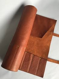 case kitchen knives premium veg tan brown leather knife roll leather knife case