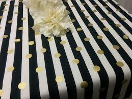gold polka dot table cover striped dot tablecloth black striped gold dot or napkins