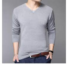 fashion slim fit sweater classic black pullover solid