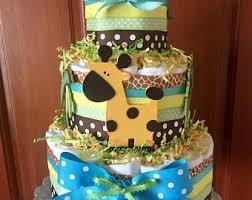 safari diaper cake etsy