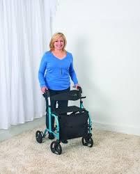 Transport Walker Chair Juvo Mobi Folding Rollator Transport Chair Caregiver Travel