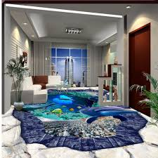 free shipping 3d stereo marine world dolphin floor tile painting