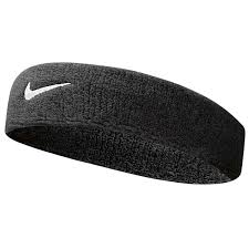 sports headband nike swoosh headband black rebel