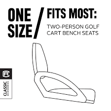 classic accessories fairway golf cart seat cover terry cloth