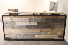 Reclaimed Wood Reception Desk With Office Desk Countertop