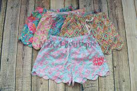 Lilly Pulitzer Baby Clothes Monogrammed Lilly Pulitzer Inspired Shorts Personalized
