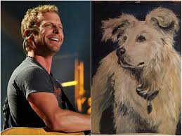dierks bentley wedding fan paints portrait of dierks bentley u0027s late dog as gift sounds
