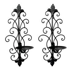 Wall Mounted Candle Sconce Sconce Antique Wrought Iron Hanging Candle Holder Wrought Iron