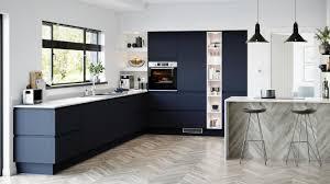 navy blue and grey kitchen cabinets blue kitchen ideas blue kitchen designs howdens
