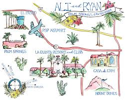 Palm Springs Map Keepsakes U2014 Cait Courneya
