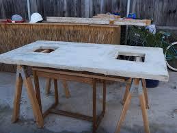 diy concrete table top designer eco eco diy feature concrete table d i y