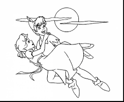awesome tinkerbell coloring pages with peter pan coloring pages