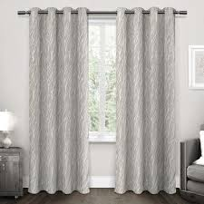 Light Silver Curtains Blackout Floral Curtains Drapes Window Treatments The