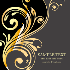 golden ornaments background vector free