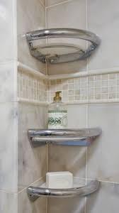 another beautiful bathroom grab bar disguised as a corner shelf