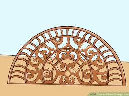 how to clean wrought iron with pictures wikihow