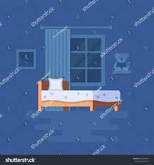 vector illustration bedroom interior clipart bed stock vector