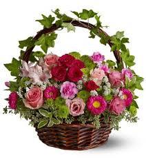 basket of flowers garden basket of flowers
